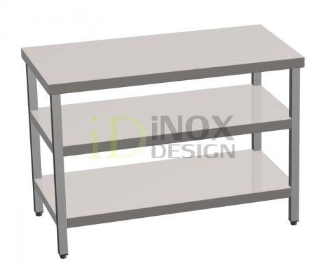 Munkaasztal alsó és köztes polccal - 700-as széria