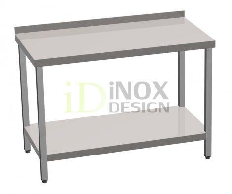 Munkaasztal alsó polccal, hátsó felhajtással - 600-as széria