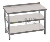 Munkaasztal alsó és köztes polccal, hátsó felhajtással - 600-as széria