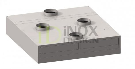 Sziget elszívóernyő indukciós befúvással - 1600-as széria