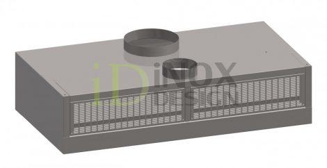 Fali elszívóernyő friss levegős és indukciós befúvással - 1200-as széria
