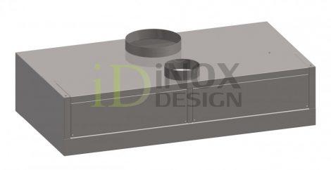 Fali elszívóernyő indukciós befúvással - 1200-as széria