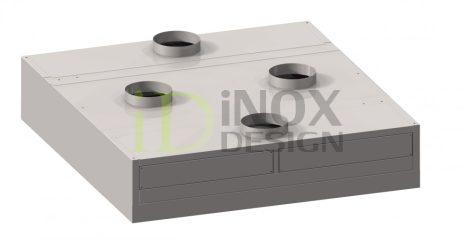 Sziget elszívóernyő indukciós befúvással - 2200-as széria